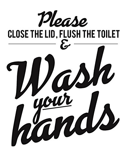 home & kitchen, wall art,  posters & prints  picture, Set of 4 Funny Bathroom Quotes & Rules (UNFRAMED) Best Modern Toilet Decor Words & Letters | Premium Card Stock Sayings Posters | (8x10) Black & White Prints (Option 2) deals2