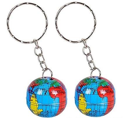 Amazon.com: Llavero con diseño de globo de Rhode Island con ...