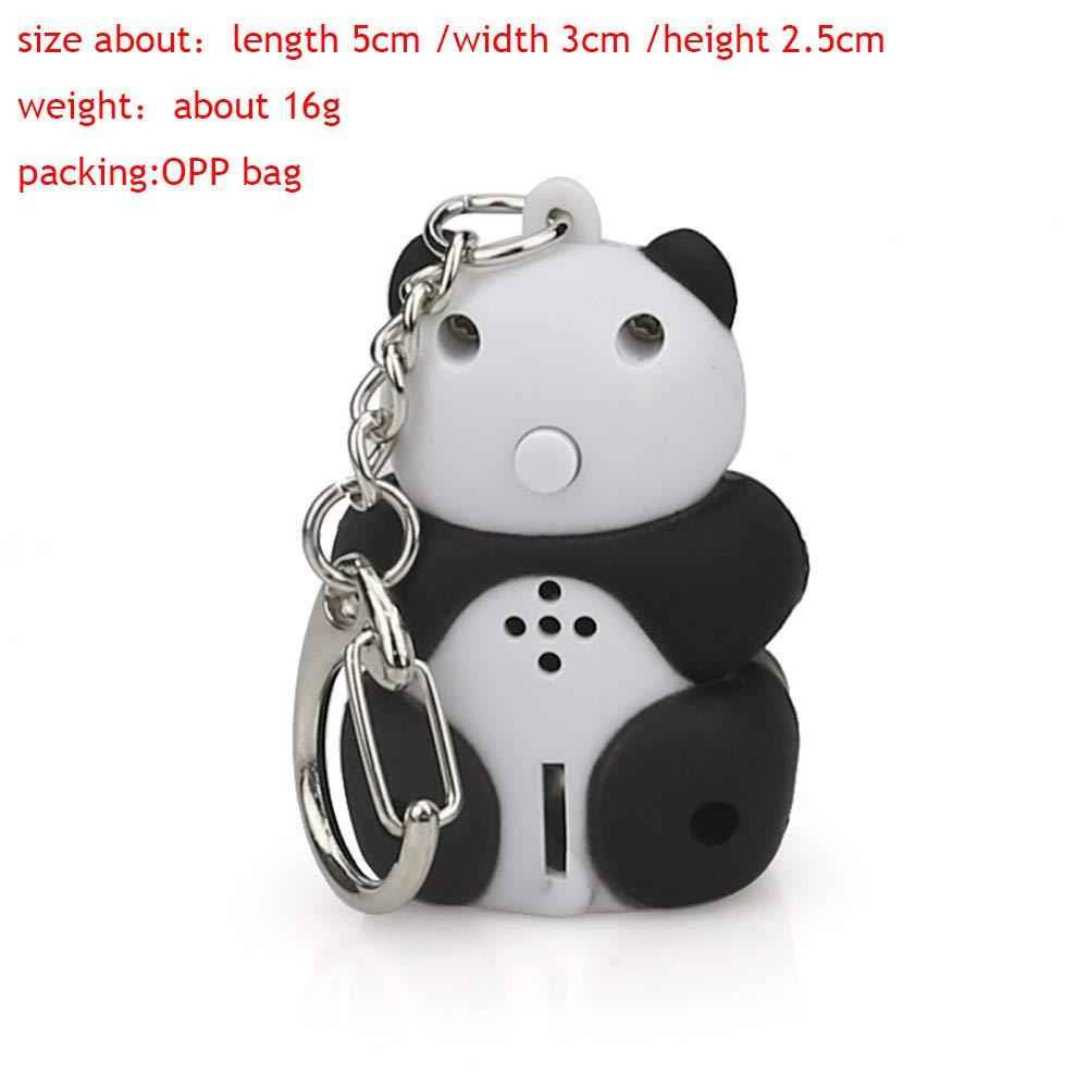 Amazon.com: Llavero con diseño de panda de dibujos animados ...
