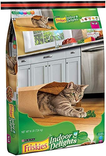 Friskies Dry Cat Food, Indoor Delights, 16-Pound Bag, Pack of 2