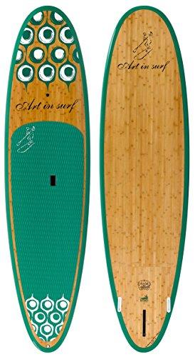 Art in Surf Da Monster Fun Paddle Board, 11' x 33'' x 5''/202 L, Green by Art in Surf