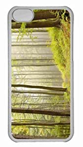 Customized iphone 5C PC Transparent Case - Deciduous Forests Personalized Cover