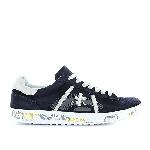 PREMIATA Scarpe da Uomo Sneaker Andy 3103 Blu Primavera Estate 2018