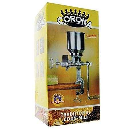 Corona® Corn & Grain Mill with Low Hopper by www.CoronaMill.com