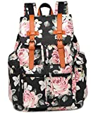 BLUBOON Backpack for Girls College School Bookbag Canvas Laptop Bag