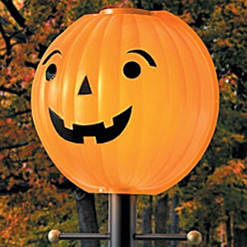 Post Candle Lantern - Thanksgiving Pumpkin Jack O Lantern Lamppost Cover Shade