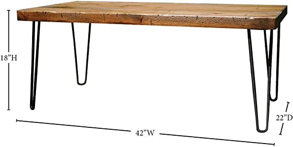 Peaceful Classics Rustic Wooden Coffee Table Industrial, Farmhouse, Furniture for Living Room