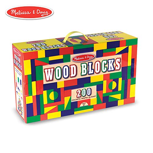 Melissa & Doug 200 Wood Block Set ()
