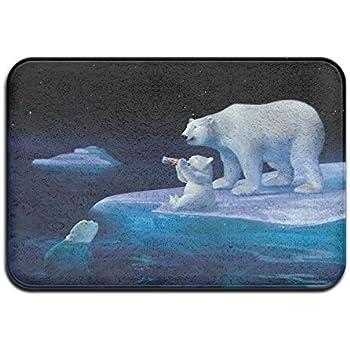 Amazon Com Pretty Doormat Coca Cola Polar Bears Indoor