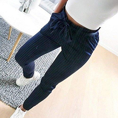 Estivi High Inclusa Slim Lunghe Haidean Donna Waist Solidi Cintura Glamorous Libero Fit Matita Elegante Pantaloni Fashion Colori Pants Tempo Blau Semplice A nROvRXY