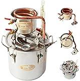 Ama_TrulyStep MSC03 Copper Alcohol Moonshine Ethanol Still Spirits Boiler Water Distiller, 20 Litres