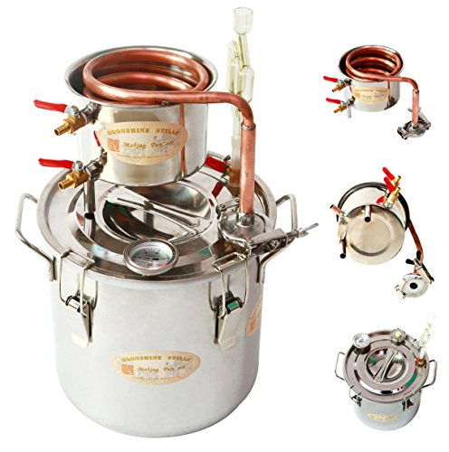diy-2-gal-10-liters-home-distiller-moonshine-alcohol-still-stainless-boiler-copper-thumper-keg