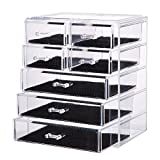 Vencer Big Cosmetics Makeup and Jewelry Storage Case Display (3 Large and 4 Small Drawers) VMO-009 (Kitchen)