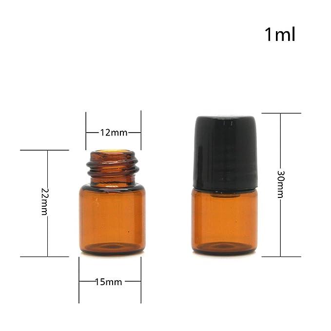 calistouk ámbar pequeño cristal cuentagotas botellas viales para aceite esencial muestreo, 2ML, 5 unidades: Amazon.es: Hogar