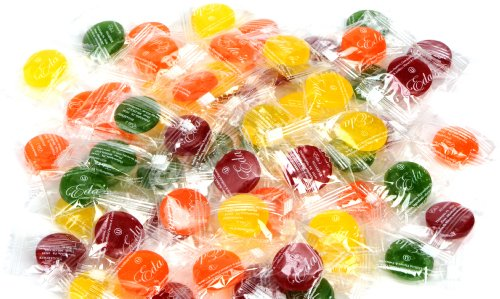 Eda's Sugar Free Sour Mix Hard Candy, ONE POUND, individually wrapped, OU Parve, Uses Sorbitol, Low Sodium - Balls Sours Fruit Candy
