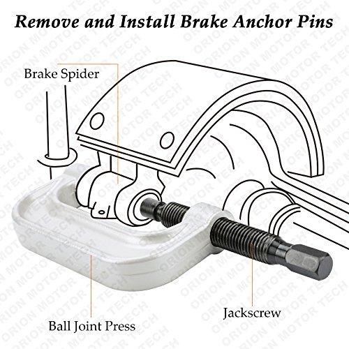 OrionMotorTech 22PCS Master Ball Joint Press | Upper and Lower Ball Joint Removal Tool | Automotive Mechanic Tool Set by OrionMotorTech (Image #4)