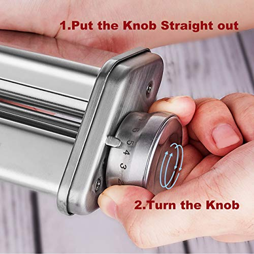 Pasta MakerMachinefor Kitchenaid Mixer Attachments with 3 Pieces Pasta Roller and Cutter Setas Kitchenaid Mixer Accessoriesby Hozodo