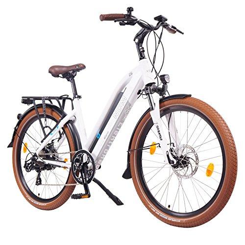 NCM Milano 2016,26 Zoll Elektrofahrrad Herren/Damen Unisex Pedelec,E-Bike,Trekking Rad, 36V 250W 14Ah Lithium-Ionen-Akku mit PANASONIC Zellen, matt weiß