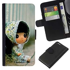 Ihec-Tech / Flip PU Cuero Cover Case para Apple iPhone 5C - Cute Toy Girl