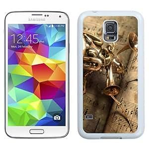 NEW Unique Custom Designed Samsung Galaxy S5 I9600 G900a G900v G900p G900t G900w Phone Case With Musical Bug Steampunk_White Phone Case wangjiang maoyi