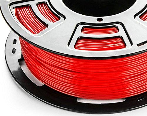 3DDPLUS 1.75mm PLA 3D Printer Filament True Red- 1kg Spool (2.2 lbs) - Dimensional Accuracy +/- 0.03mm by 3DDPLUS