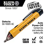 Klein Tools NCVT-1 Voltage Tester, Non-Contact Voltage Detector for AC Voltage, Low Battery Indicator and Auto Shutdown, Batteries Included
