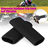 Motorcycle Comfort Grips Covers, Universal Motorcycle Slip-On Foam Anti Vibration Motorcycle Hand Grips Foam Covers Anti-Slip