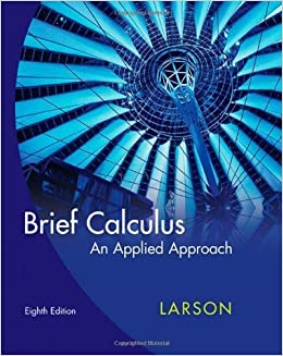 Book Brief Calculus: An Applied Approach 8th edition by Larson, Ron published by Brooks Cole