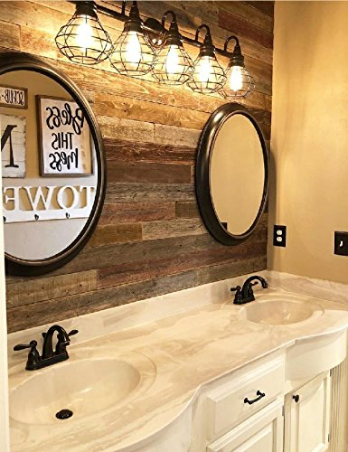 Peel & Stick Rustic Reclaimed Barn Wood Paneling, Real wood, Rustic Wall Planks - Easy Installation (1 SQUARE FOOT) (Wood Rustic)