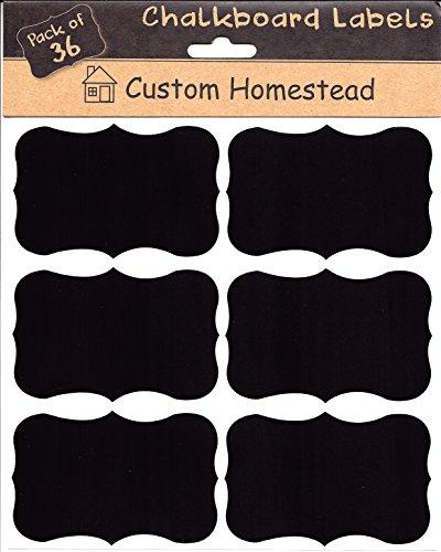 Large Fancy Rectangle Chalkboard Labels