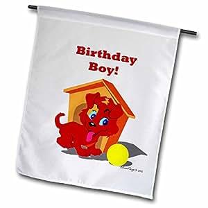 Edmond Hogge Jr Dogs - Puppy Birthday Boy - 18 x 27 inch Garden Flag (fl_54617_2)
