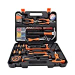 Renogy 46 Pieces Tool Set Box Kit General Household Hand Combination Package Mixed Auto Repair Tool with Strength Plastic Toolbox Storage Case