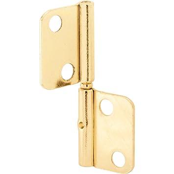 Prime Line Products N 6835 Bi Fold Shutter Door Hinge, Brass Plated Steel