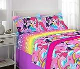 Franco Kids Bedding Super Soft Sheet Set, 4 Piece Full Size, Hasbro My Little Pony