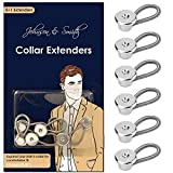 Johnson & Smith Collar Extenders/Neck Extender/Wonder Button for 1/2 Size Expansion of Men Dress Shirts, 5 +1 Pack, 3/8'