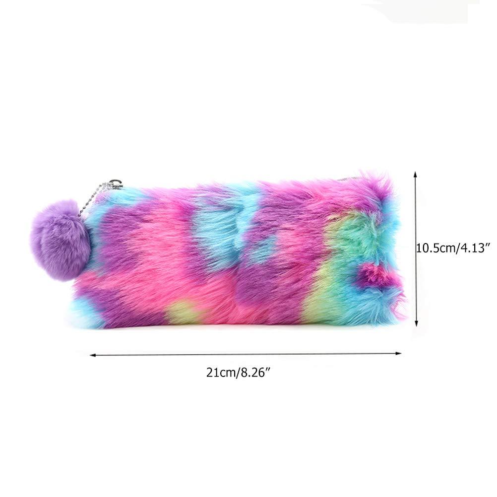10.5cm Comtervi /Étui Crayons Papeterie Multifonction//cosm/étique//Sac de Maquillage de Poche pour Carte 21 Sac cosm/étique de Sac /à stylos en Peluche Mignon