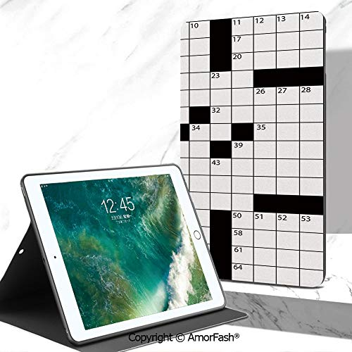 (Word Search Puzzle Full Body Rugged Cover for Samsung Galaxy Tab A 7.0 Inch Tablet 2016 Release T280/T285,Blank Newspaper Style Crossword Puzzle with Numbers in Word Grid Decorative)