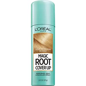 L'Oreal Paris Magic Root Cover Up Gray Concealer Spray Light to Medium Blonde 2 oz.(Packaging May Vary)