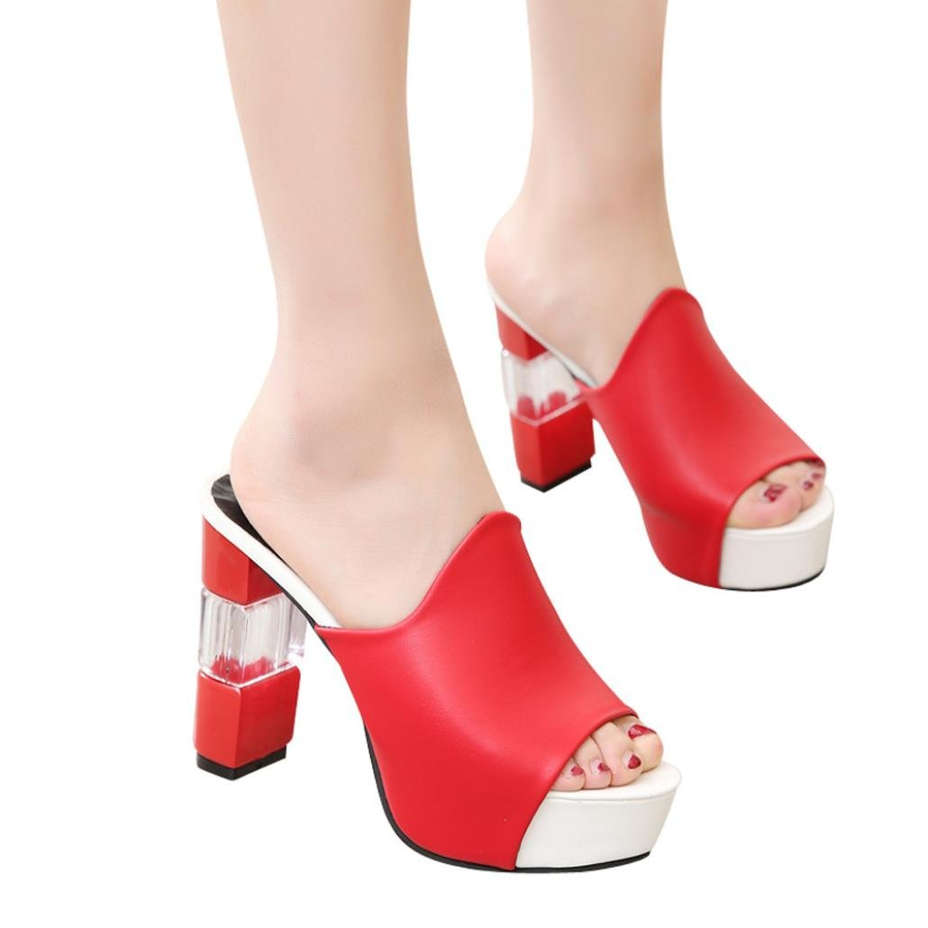 Mode Keil Dicke Bottom Slippers Vectry High Heels Sandalen Plateau Sandaletten Damen Riemchen Offene Stiefel Sommer Schuhe Schn/üRen Stiefel Bequem Plato Absatzschoner