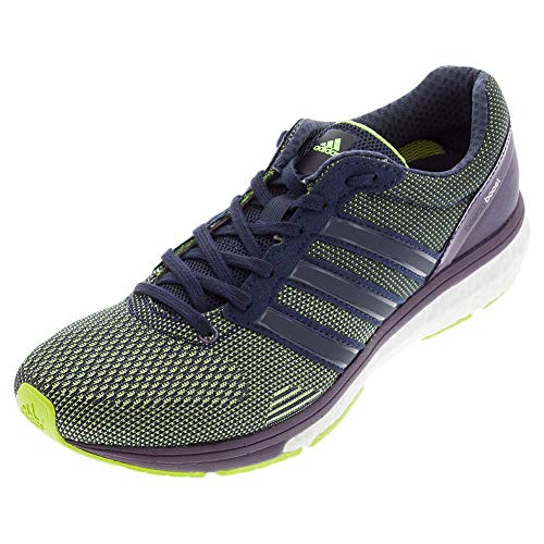 adidas Women's Adizero Boston 5 Boost TSF, Yellow/Purple, 11 B
