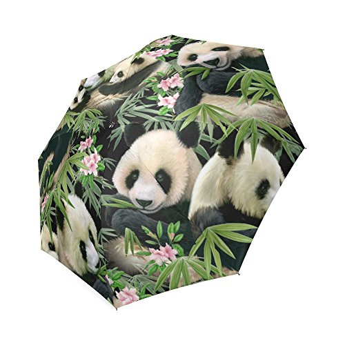 Custom Cute Polar Bear Cubs Compact Travel Windproof Rainproof Foldable Umbrella