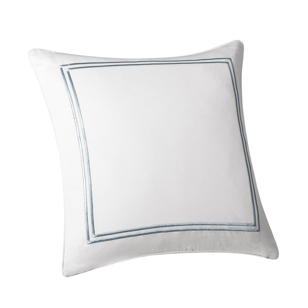 Harbor House Chelsea Fashion Cotton Throw Pillow, Traditional Square Decorative Pillow, 16X16, Ivory