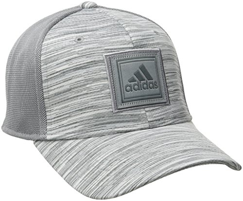 (adidas Men's Veteran Stretch Fit Structured Cap, Small/Medium, Grey/Onix Free Run)