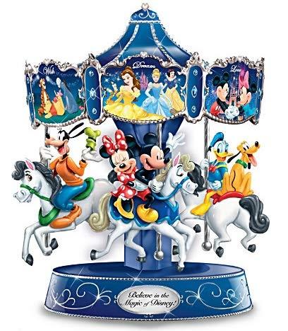- Disney Believe in The Magic Rotating Musical Bradford Exchange Carousel