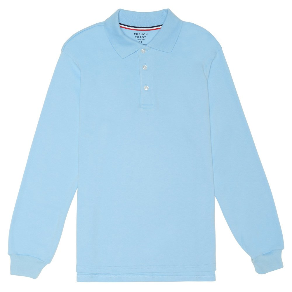 French Toast Boys' Long Sleeve Interlock Polo SA9087