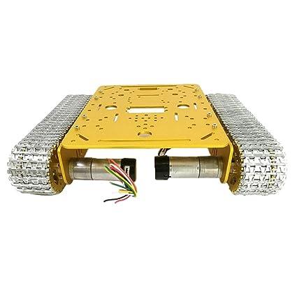 Homyl Kit de Robot Chasis Motor Pistas Ruedas Llave Luz Piezas de ...