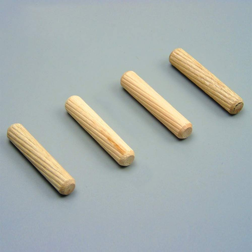 Leepesx Juego de 100 clavijas clavijas de madera clavijas estriadas de madera juego de clavijas de 100 clavijas clavijas estriadas para gabinetes de muebles