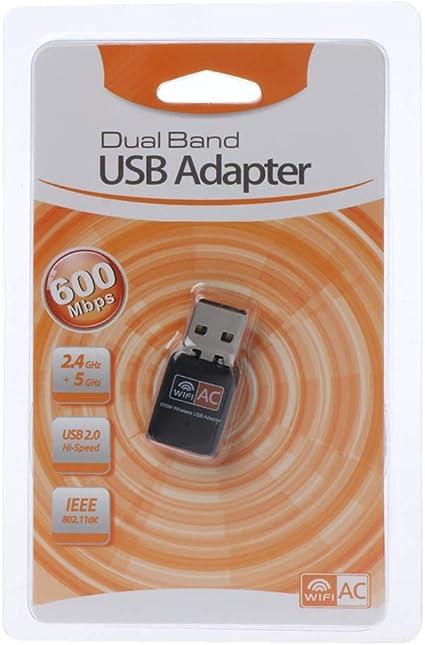ZOUCY Adaptador WiFi USB 600Mbps Tarjeta de Red inalámbrica ...