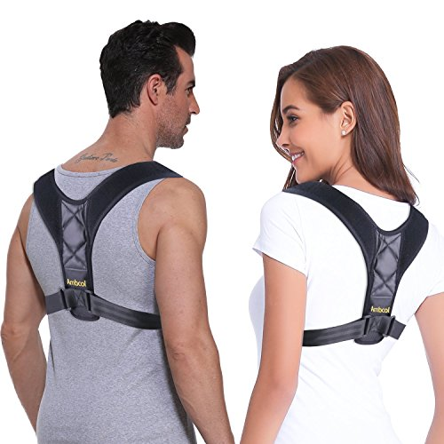 Ambcol Posture Corrector & Back Support Brace for Women and Men, Solution for Kyphosis, Shoulder Support, High Back & Neck Pain Relief by Ambcol