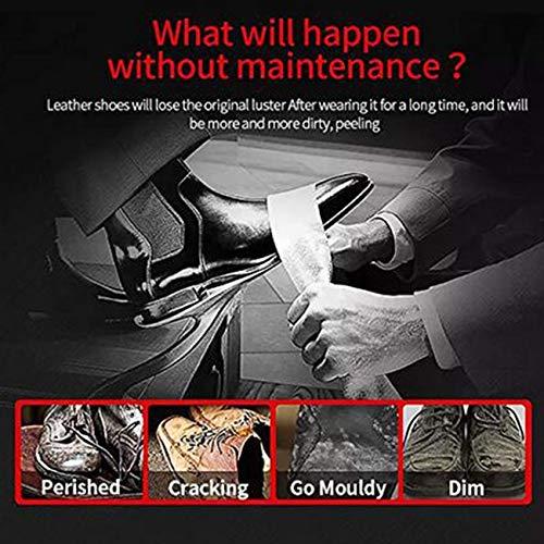 LHKJ Kit d'entretien de la Chaussure, Kit d'entretien de Cuir Portable. Kit de Voyage pour Boîte de Cylindre en Cuir… 5